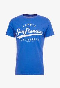 Esprit - Print T-shirt - bright blue - 3