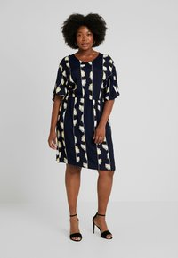 ADIA - DRESS KNEELENGTH - Korte jurk - navy - 0