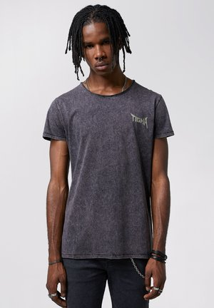 Print T-shirt - vintage black