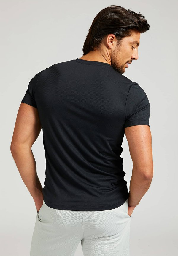 Guess MIKROFASER - T-shirt z nadrukiem - schwarz/czarny Odzież Męska QDAH