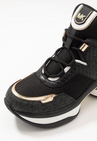 MICHAEL Michael Kors - OLYMPIA TRAINER - Sneakersy niskie - black/pale gold - 2