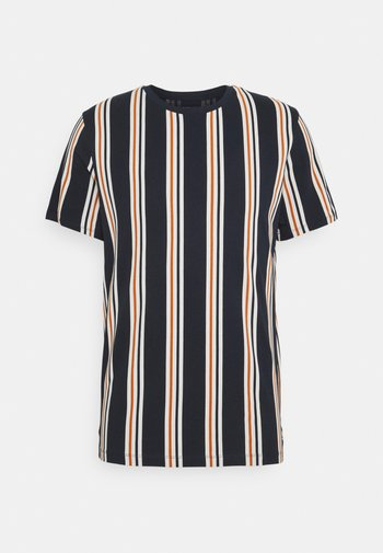 JORHURRY TEE CREW NECK - T-shirt med print - navy blazer