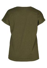 Zizzi - Basic T-shirt - green - 4