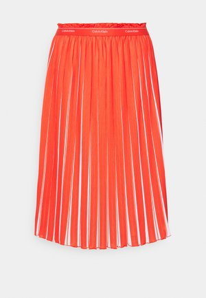 TWO TONE MIDI - Pleated skirt - fiesta/bright white