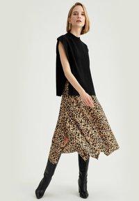 DeFacto - A-line skirt - beige - 1
