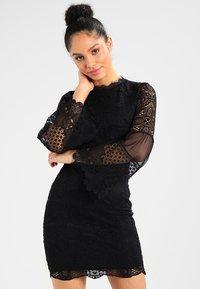 WAL G. - DETAIL MINI DRESS - Vestido de cóctel - black - 0