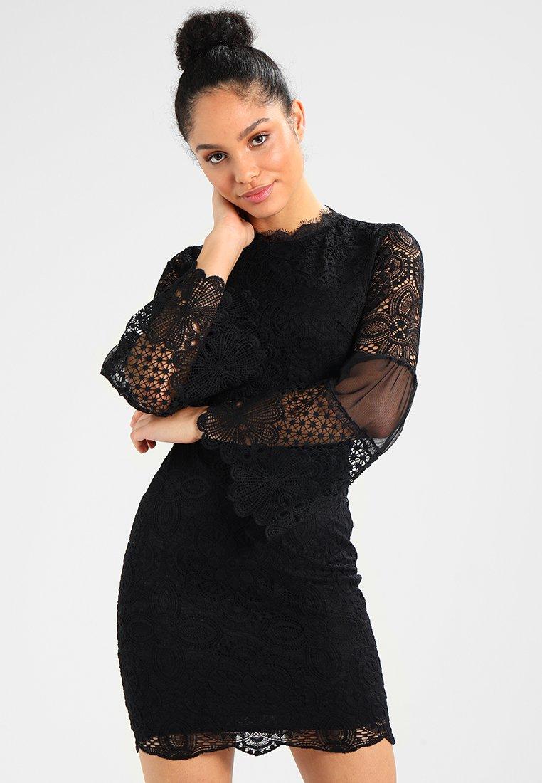 WAL G. - DETAIL MINI DRESS - Vestido de cóctel - black