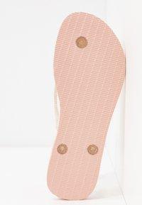 Havaianas - SLIM FIT LOGO METALLIC - Pool shoes - ballet rose - 6