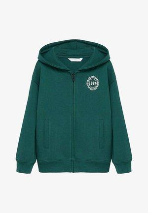 ROUND - Zip-up hoodie - verde biliardo