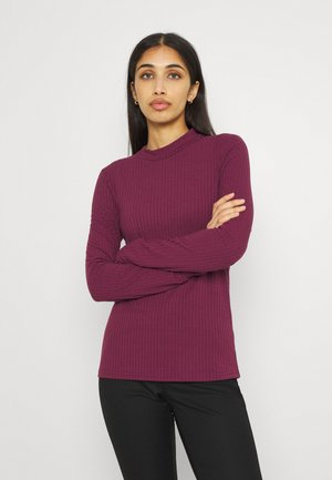 PCKYLIE T NECK - Long sleeved top - red mahogany
