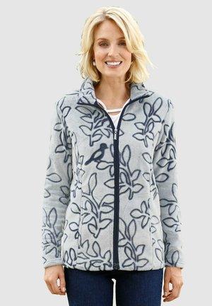 Fleece jacket - ecru,marineblau