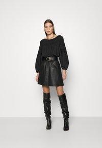 Second Female - MELVIN MINI SKIRT - Áčková sukně - black - 1