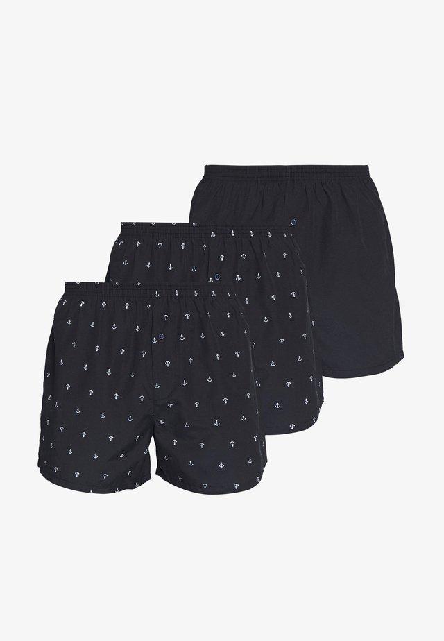 3 PACK - Boxer shorts - dark blue