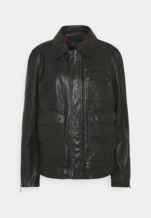 L-LUC JACKET - Leather jacket - black