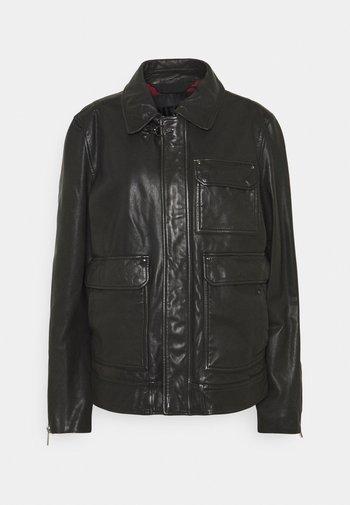 L-LUC JACKET - Kožená bunda - black