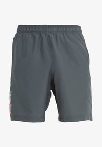 Under Armour - WORDMARK - Urheilushortsit - pitch gray/orange glitch - 3