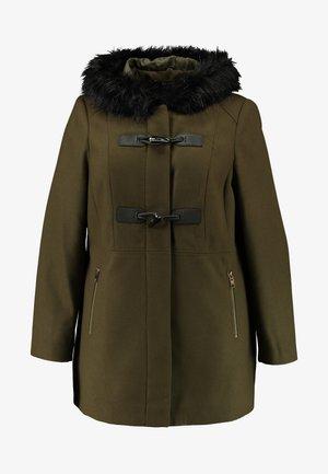 HOOD DUFFLE - Classic coat - khaki