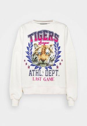 TIGERS LEAGUE DROPPED SHOULDER WOMEN  - Sweatshirt - off white