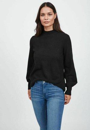 BALLONÄRMEL - Stickad tröja - black