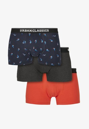 3 PACK - Shorty - bird aop+boxer orange+charcoal