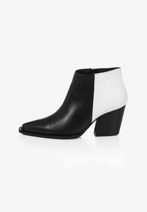 Ankle boots - white/black
