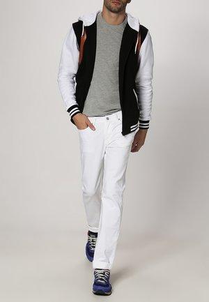 Zip-up hoodie - black/white