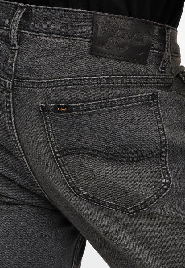 Lee RIDER - Jeansy Straight Leg - moto worn in/szary denim Odzież Męska GLTW