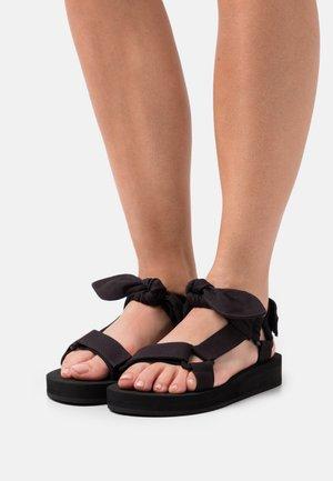 MAISIE - Platform sandals - black