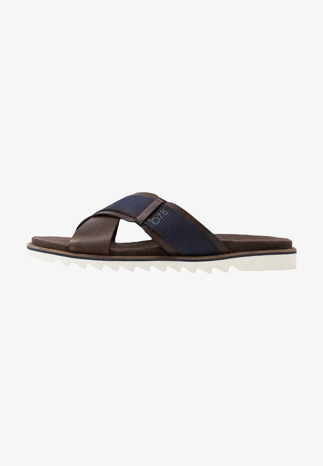 LIMON - Sandalias planas - dark brown/dark blue