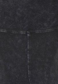 Hollister Co. - ACID WASH FASHION - Leggings - mottled dark grey - 5