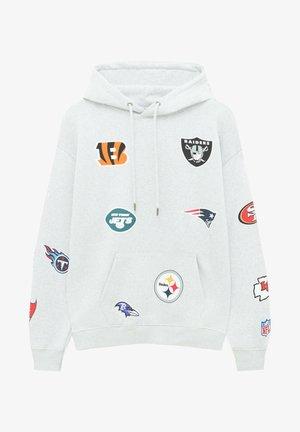 MIT NFL LOGOS - Hoodie - mottled light grey