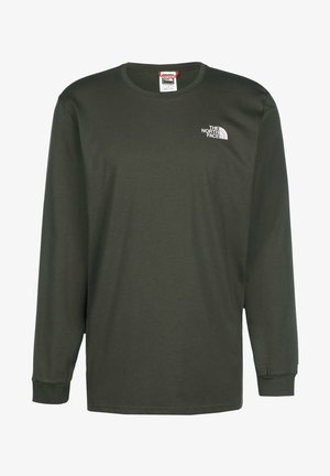 Long sleeved top - new taupe green white