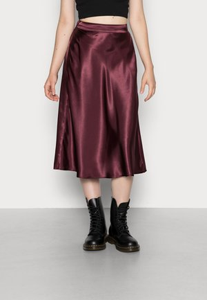 VMXARA CALF - A-line skirt - port royale