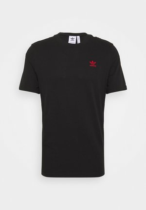 ESSENTIAL TEE UNISEX - Camiseta básica - black/red