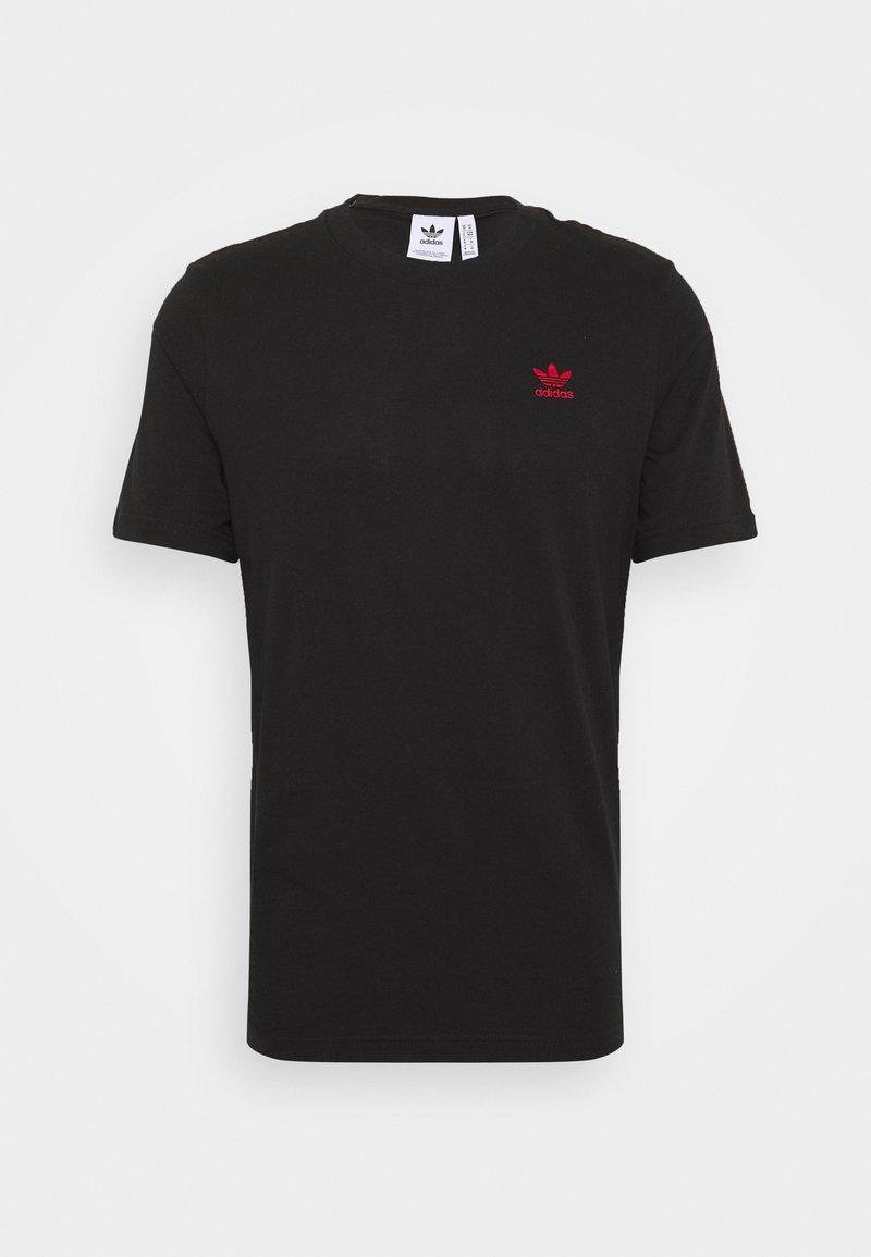 adidas Originals - ESSENTIAL TEE UNISEX - Basic T-shirt - black/red