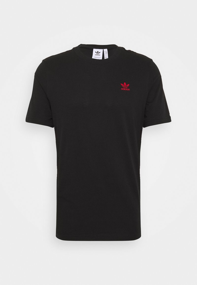 adidas Originals - ESSENTIAL TEE UNISEX - T-shirt - bas - black/red