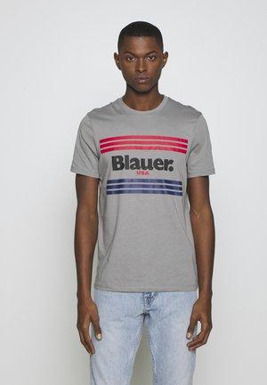 MANICA CORTA - T-shirt med print - grigio piccione