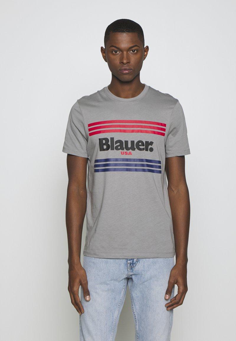 Blauer - MANICA CORTA - T-shirt med print - grigio piccione