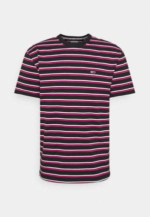 TWO TONE STRIPE CLASSIC TEE - T-shirt con stampa - pink