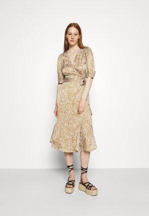 GRANADA WRAP DRESS - Maxi dress - bronze brown