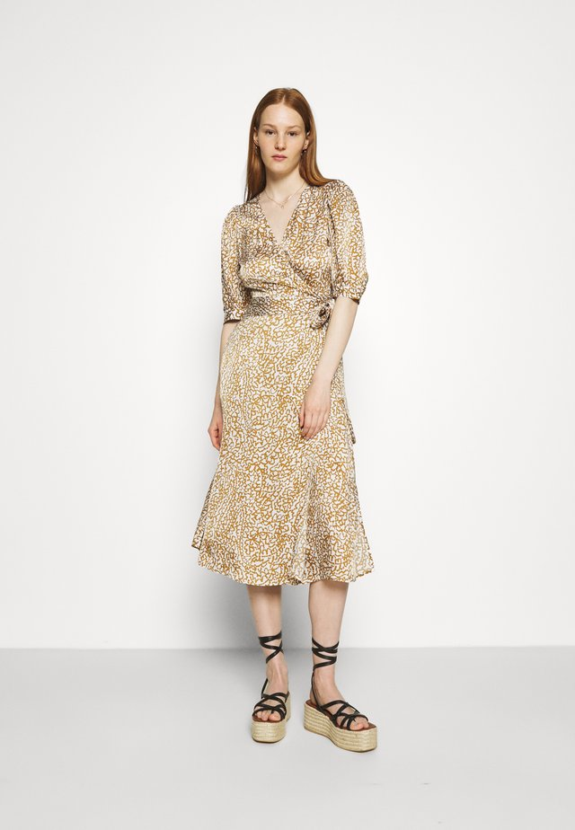 GRANADA WRAP DRESS - Robe longue - bronze brown