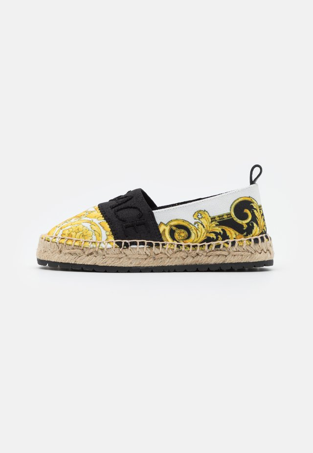 Espadrilles - black/gold/white