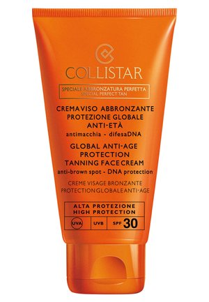 GLOBAL ANTI-AGE PROTECTION TANNING FACE CREAM - Zonnebrandcrème - -