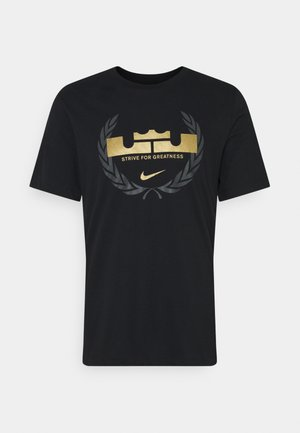 LEBRON JAMES DRY TEE LOGO - T-shirt con stampa - black