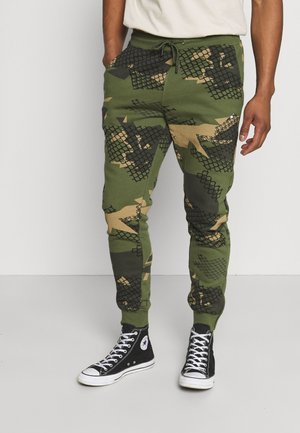 UNISEX WIRE - Tracksuit bottoms - olive