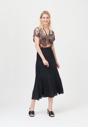 ERICA - A-line skirt - black