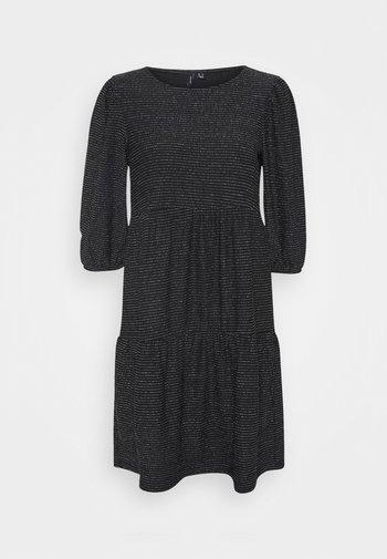 VMSKY SHORT DRESS - Jersey dress - black/silver