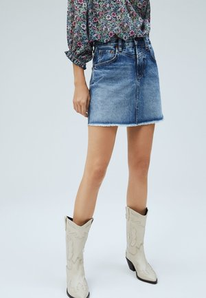 RACHEL  - A-line skirt - denim
