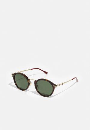 UNISEX - Sunglasses - havana/gold-coloured/green