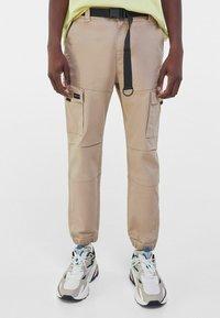 Bershka - Cargo trousers - camel - 0